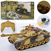 Детский танк на радиоуправлении М 5523, 32 см, музыка, свет, на аккумуляторе, в коробке