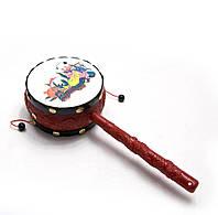 Барабан-трещетка с рисунком 24х9,х5см (26145)
