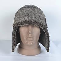 Чоловіча шапка- вушанка з штучного хутра кролика 511099ea0dbc0