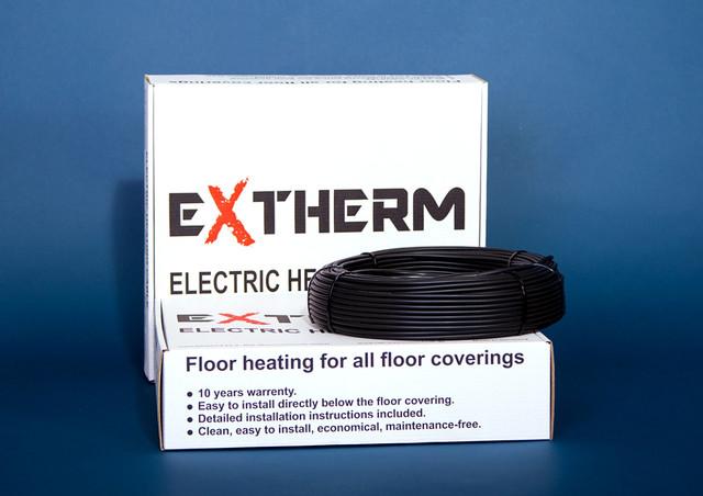 Тепла підлога в стяжку EXTHERM нагрівальний кабель
