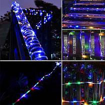 Уличная Светодиодная Гирлянда Дюралайт 20 м, мультицвет с переходником 220V, фото 3