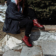 Женские ботинки Dr. Martens Original Cherry c 8 парами люверсов, фото 3