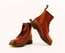 Женские ботинки Dr. Martens Original Cherry c 8 парами люверсов, фото 2