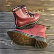 Женские ботинки Dr. Martens Original Cherry c 8 парами люверсов, фото 4