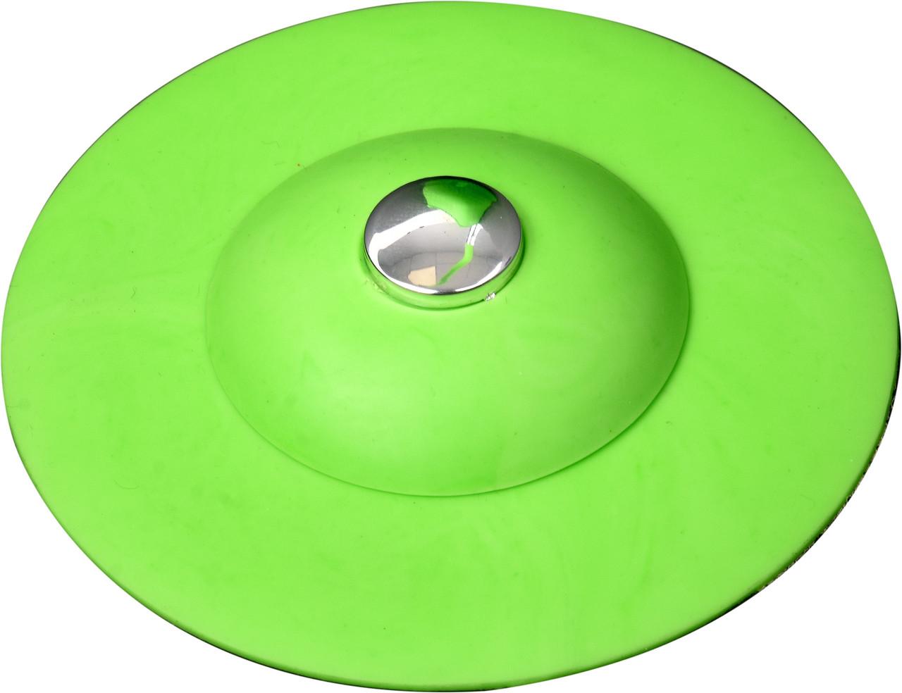 Пробка в раковину силіконова з сітчастим фільтром зелена Fala 74784