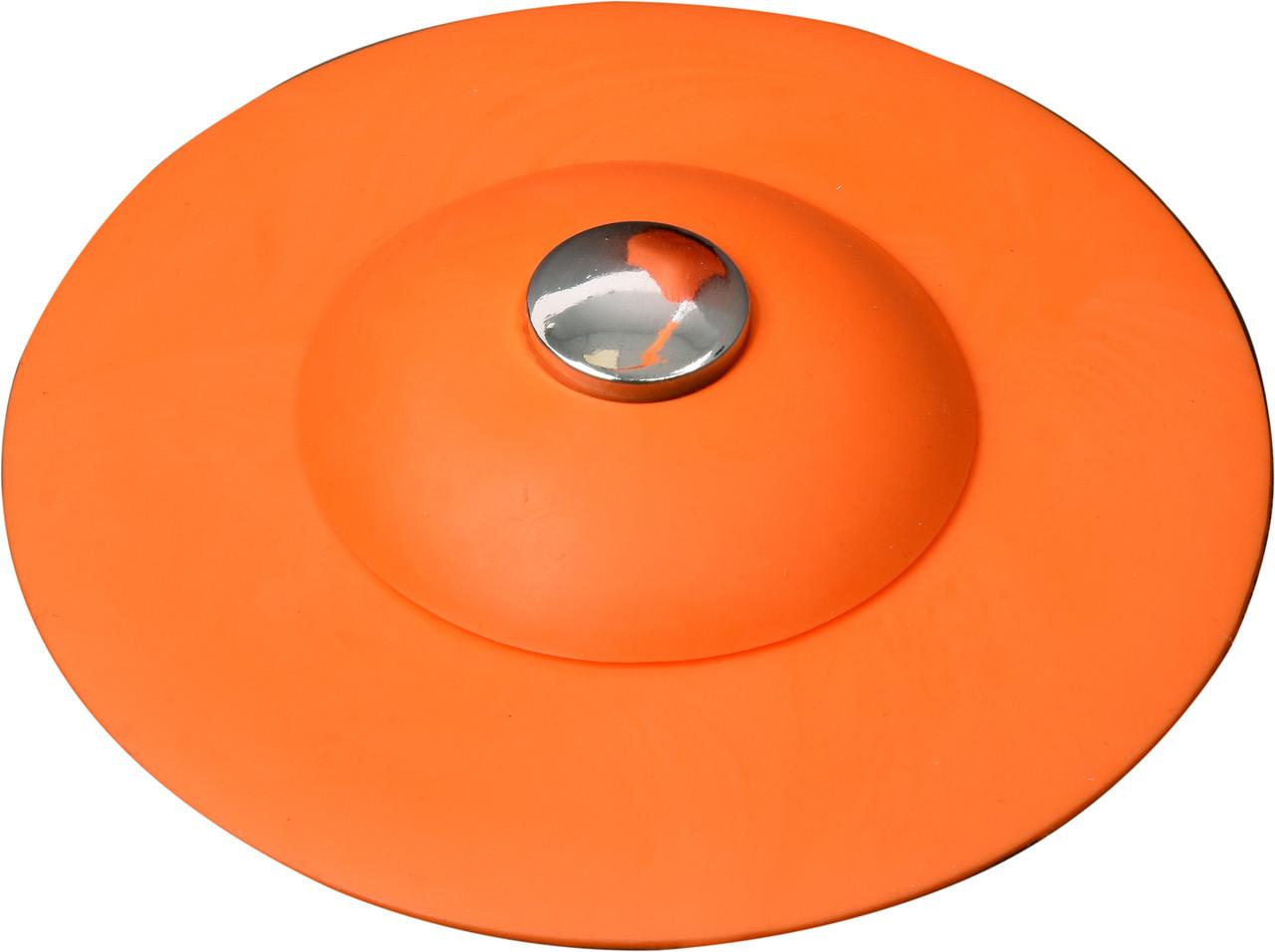 Пробка в раковину силиконовая с сетчатым фильтром оранжевая Fala 74783