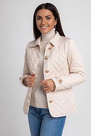 Демисезонная стеганная женская короткая куртка в 4 размерах: S, M, L, XL