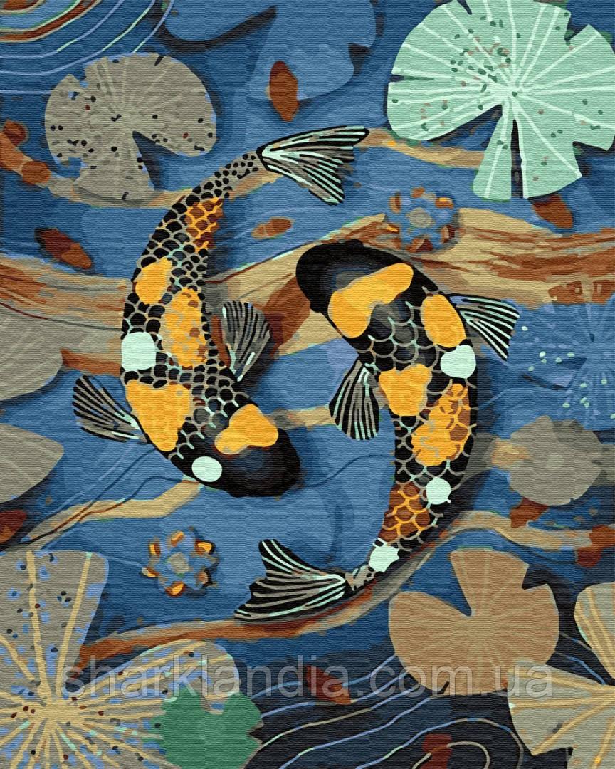 Картина по Номерам Тропические рыбки 40х50см RainbowArt