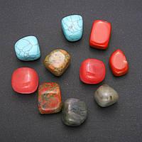 Натуральный камень ассорти галтовка 18х22мм( +-) фасовка 100грамм купить оптом в интернет магазине
