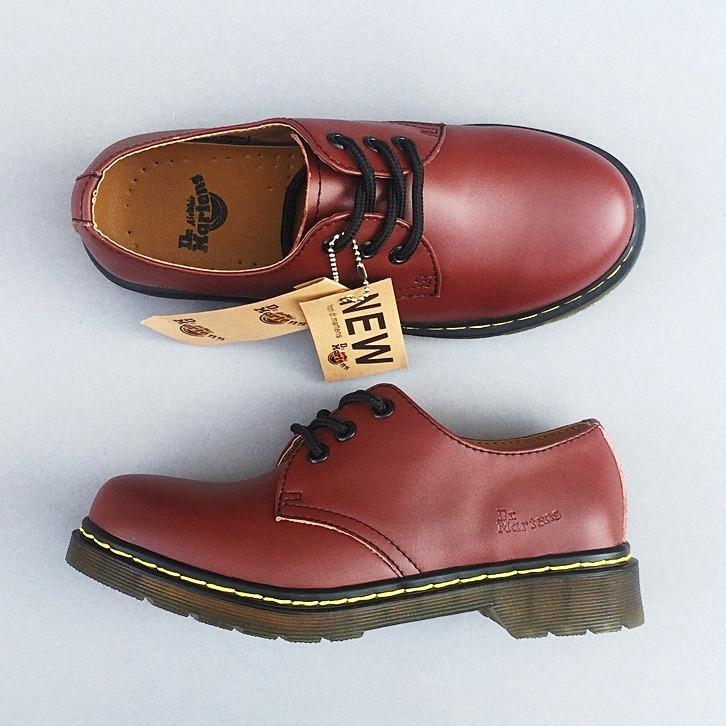 Женские кожаные полуботинки/туфли в стиле Dr. Martens Originals Red
