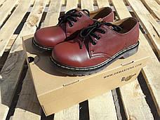 Женские кожаные полуботинки/туфли в стиле Dr. Martens Originals Red, фото 3