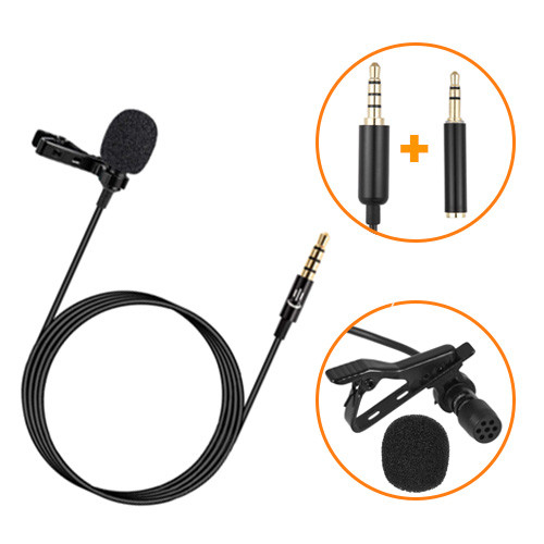 Микрофон петличный петличка Andoer EY-510A для смартфона, камеры, ПК