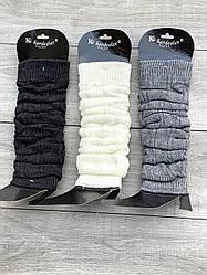 Жіночі теплі гетри Kardesler з вовни ламі однотонні розмір 36-40 мікс кольорів