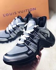 Женские кроссовки в стиле Louis Vuitton LV Archlight Sneaker Black Silver, фото 3