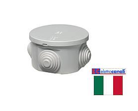 Коробка распределительная IP44 60x35 Elettrocanali EC400C1 (навесная, защелки, 4 сальника 20мм)