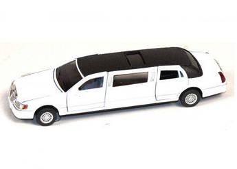 "Машинка KINSMART ""Lincoln Town Car Stretch"" (белый) KT7001W"