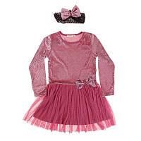 """Платье для девочки. Размер: 134. т-розовый. TM """"BREEZE"""" 13952. Турция."""