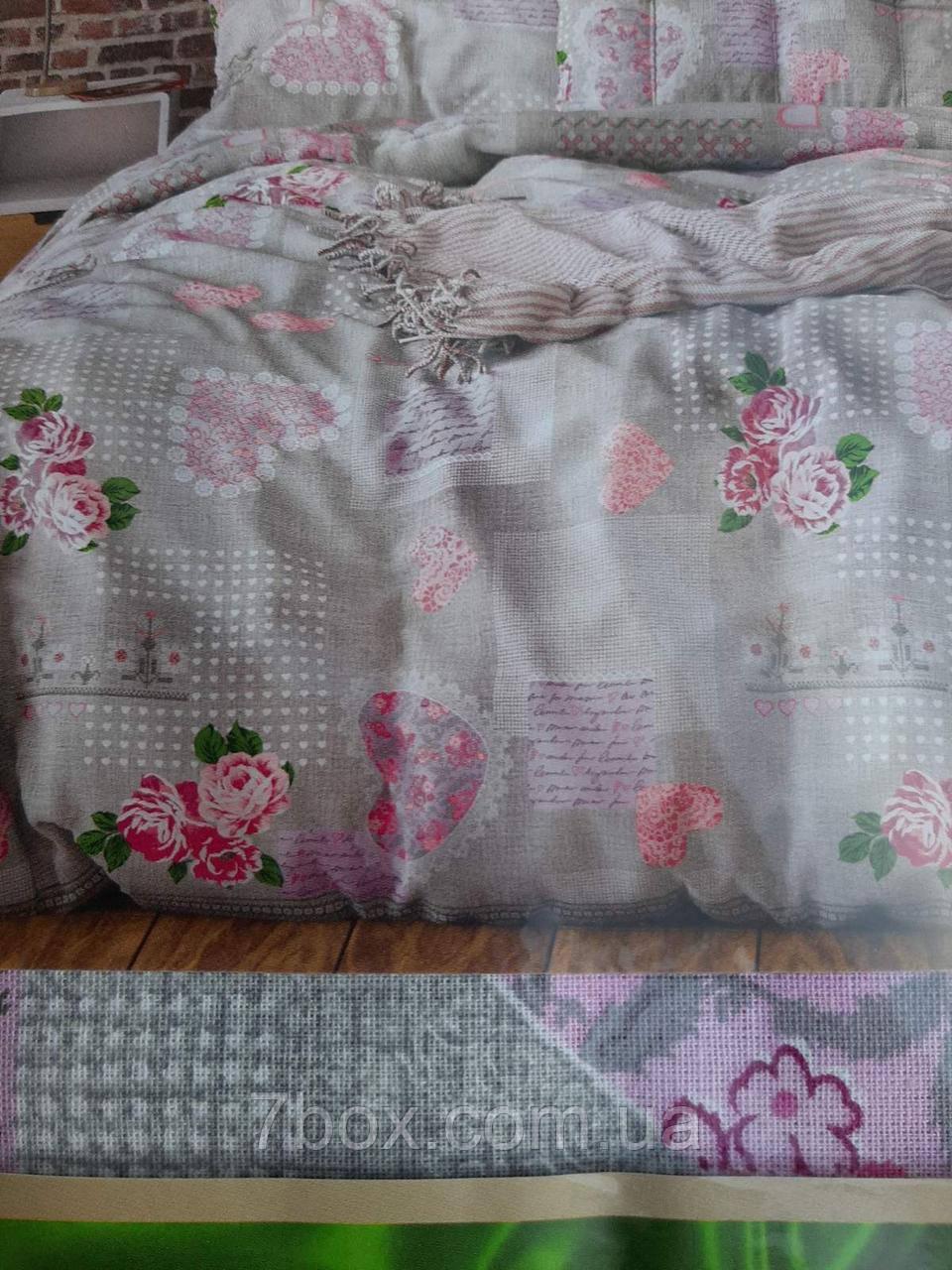 """Комплект постельного белья бязь """" -Розы 2х двуспальный размер оптом"""