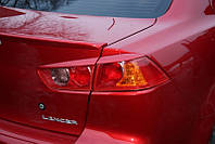 Реснички Mitsubishi Lancer X задние, накладки на фары Митсубиши Лансер 10