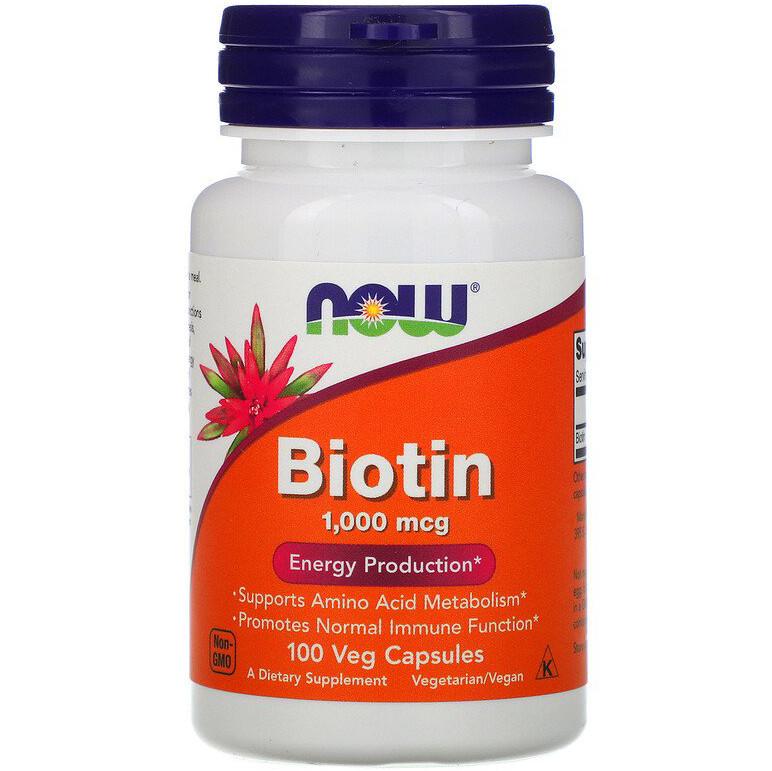 """Биотин NOW Foods """"Biotin"""" 1000 мкг (100 капсул)"""