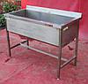 Ванна моечная односекционная из нержавеющей стали, 120х60х85 см., Б/у