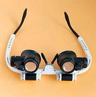 Бинокуляр очки бинокулярные 8X, 23X со светодиодной подсветкой 9892H1, фото 1
