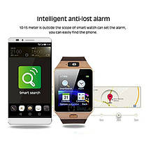 Умные смарт-часы DZ-09 Smart Watch серебро Silver Original Умные часы-телефон смарт часы DZ09, фото 2