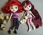 Шарнирная кукла Блайз (Айси) каштановые волосы и набор кистей + подарки (ушки, костюм и кроссовки), фото 9