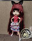 Шарнирная кукла Блайз (Айси) каштановые волосы и набор кистей + подарки (ушки, костюм и кроссовки), фото 3