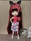 Шарнирная кукла Блайз (Айси) каштановые волосы и набор кистей + подарки (ушки, костюм и кроссовки), фото 2