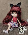 Шарнирная кукла Блайз (Айси) каштановые волосы и набор кистей + подарки (ушки, костюм и кроссовки), фото 4