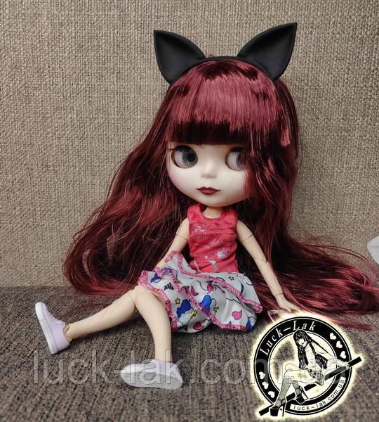 Шарнирная кукла Блайз (Айси) каштановые волосы и набор кистей + подарки (ушки, костюм и кроссовки)