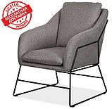 Мягкое кресло Дарио серое ткань Vetro Mebel (бесплатная доставка), фото 2
