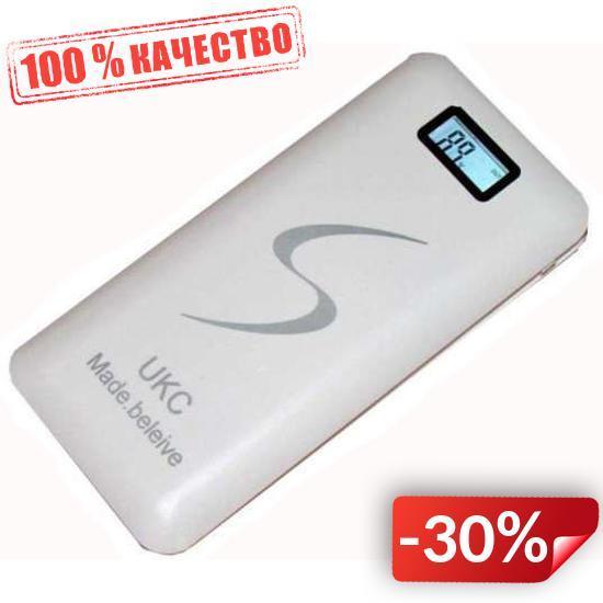 Внешний аккумулятор UKC 30000 Mah Белый (hub_dxpc66332)