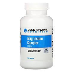 Магний (оксид, цитрат), 300 мг, 250 таблеток, Lake Avenue Nutrition