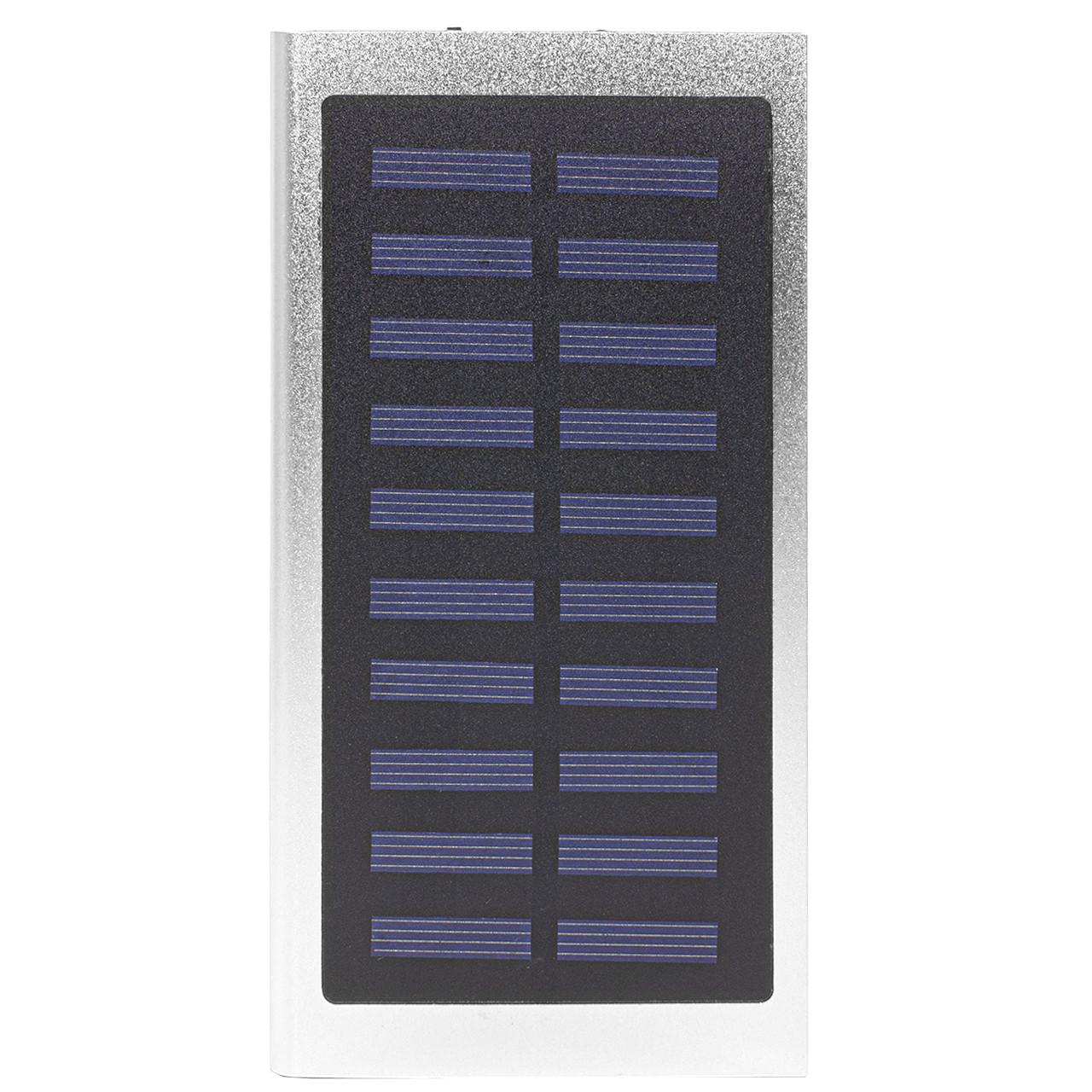 Внешний аккумулятор Power bank Solar Water Cube 8000 mAh портативная солнечная батарея Silver (258-10392)