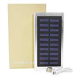 Внешний аккумулятор Power bank Solar Water Cube 8000 mAh портативная солнечная батарея Silver (258-10392), фото 7