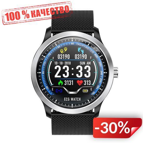 Умные часы Blaze Watch N58 с тонометром и ЭКГ Черный (swblwatn58bl)