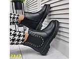 Ботинки на высокой тракторной подошве 36, 37, 38, 39, 41 р. (2317), фото 5