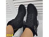 Ботинки зимние на низком широком каблуке классика на шнуровке 40 р. (2318), фото 4