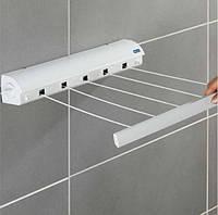 Автоматическая бельевая веревка вытяжная настенная сушилка для белья