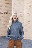 Фактурный свитер силуэта оверсайз, фото 1
