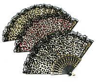 """Веер кружевной """"Леопард"""" 23см (28487)"""