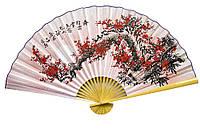"Веер настенный ""Сакура на розовом фоне"" шелк 90см (23175)"