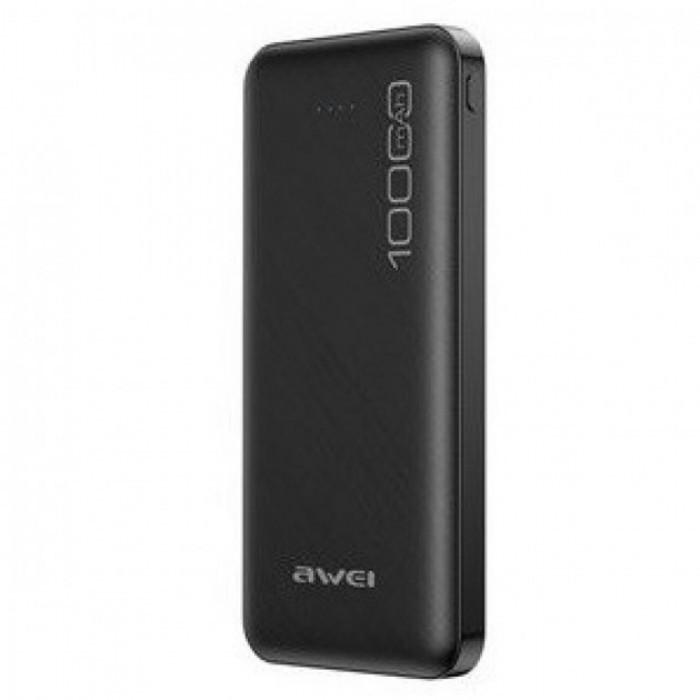 Внешний аккумулятор Power bank AWEI P28K 10000 Mah батарея зарядка Чёрный
