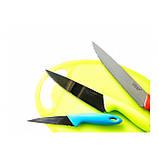 Набор кухонных металлических ножей GIAKOMA G-8137 с доской для нарезки, фото 3