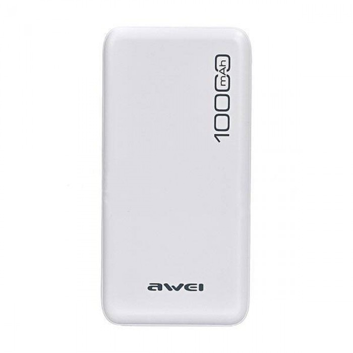 Внешний аккумулятор Power bank AWEI P28K 10000 Mah батарея зарядка БЕЛЫЙ