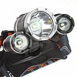 Налобный фонарь Bailong/Wimpex Police RJ-3000-T6 фонарик, фото 2
