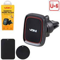 Держатель мобильного телефона VOIN UHV-5003BK/RD магнитный на дефлектор (UHV-5003BK/RD), фото 1