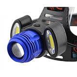 Налобный фонарь BL POLICE С862 3 диода T6 фонарик 1480 Lumen, фото 4